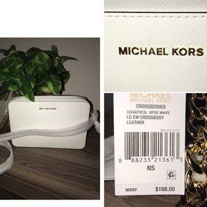 Michael Kors cross body white purse